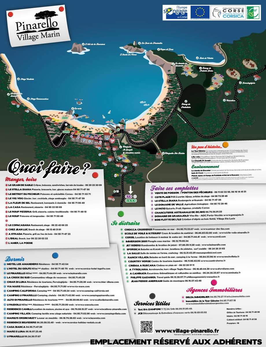 Dessin vectoriel village marin Pinarello