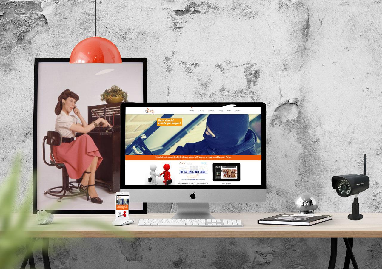 Créationde sites internet en Corse pour Gmti