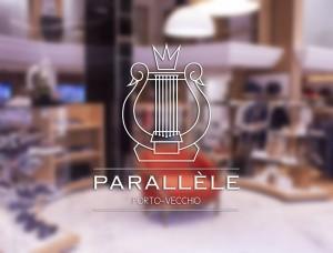 Mise en situation du logo de la boutique Parallèle