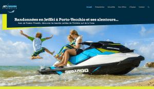 Site web de Jet Évasion Flyer location de jet ski à Porto Vecchio