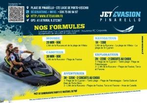 Flyer pour une société de location de jet ski à Porto Vecchio