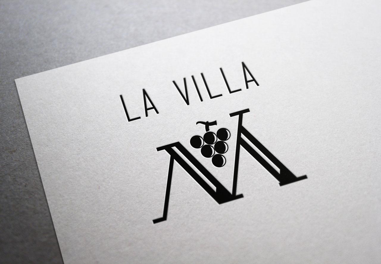 Création du logo la Villa M Porto-Vecchio