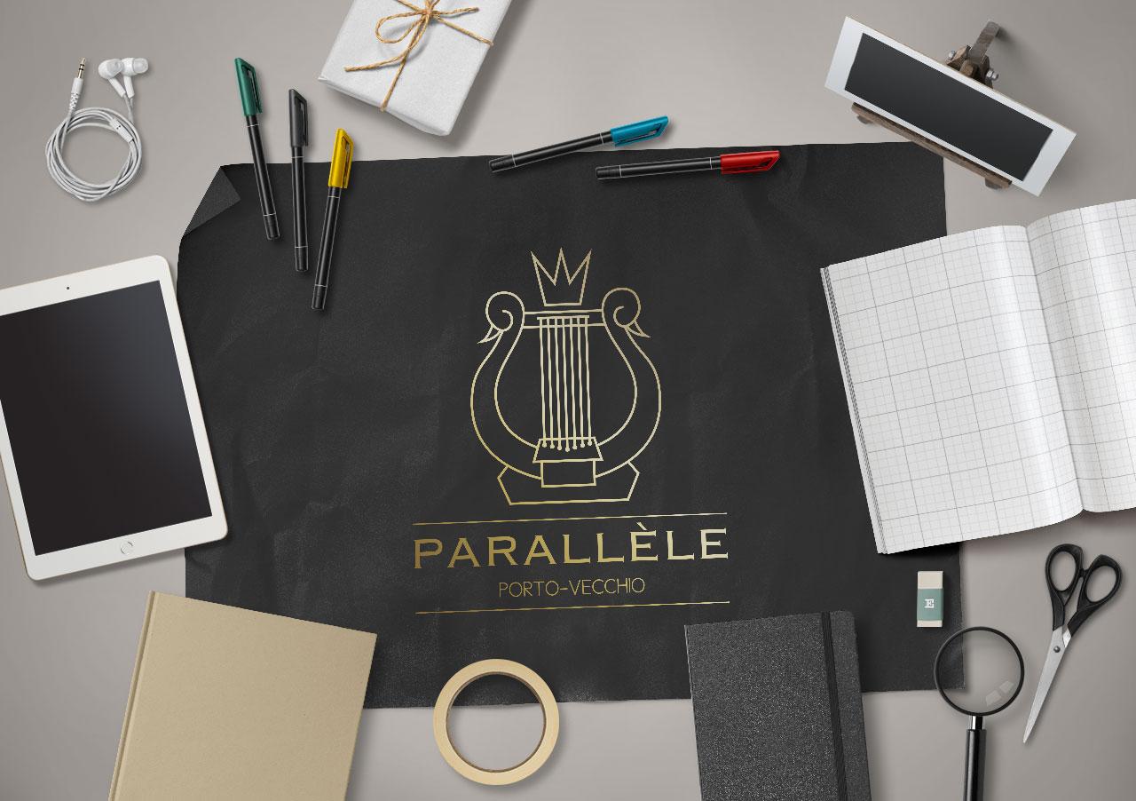 Création du logo Parallèle Porto-Vecchio