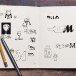 recherche du logo la Villa M Porto-Vecchio