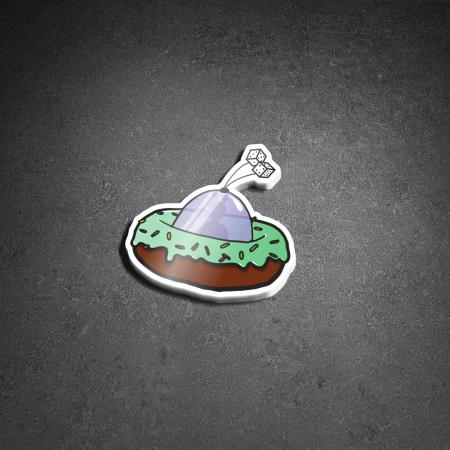 Sticker Space Donut
